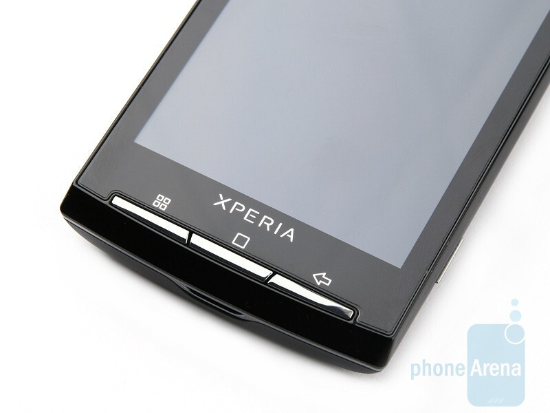 The screen, the top and the bottom of the Sony Ericsson Xperia X10 - Sony Ericsson Xperia X10 Preview