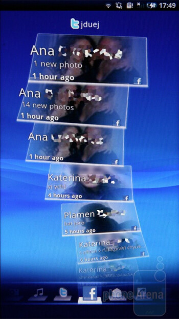 The Timescape application allows access to various pieces of information - Sony Ericsson Xperia X10 Preview