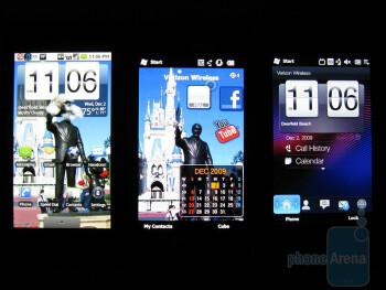 Left to right - Motorola DROID, Samsung Omnia II i920, HTC Imagio - Samsung Omnia II i920 review