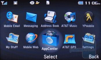 Main menu - Pantech Impact P7000 Review