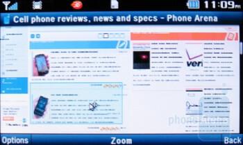 The Opera Mini browserof the Pantech Impact - Pantech Impact P7000 Review