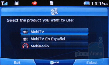 MobiTV - Third party software on the Pantech Impact - Pantech Impact P7000 Review