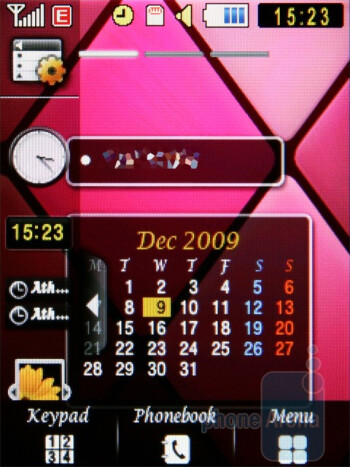 Home screen - Samsung Diva S7070 and Diva folder S5150 preview