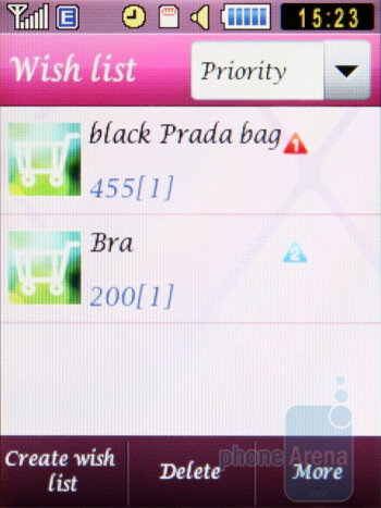 Wish List - Samsung Diva S7070 and Diva folder S5150 preview