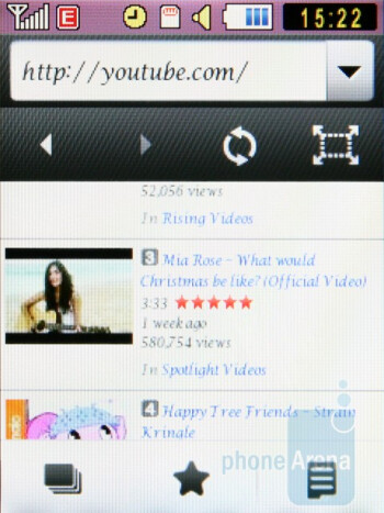 The Samsung Diva S7070 sports a WebKit-based internet browser - Samsung Diva S7070 and Diva folder S5150 preview