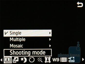 Samsung Diva folder S5150 - Camera interface - Samsung Diva S7070 and Diva folder S5150 preview
