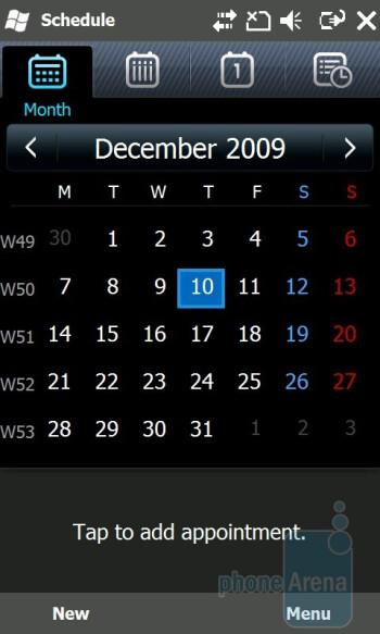 Calendar - Samsung OmniaPRO B7610 Review