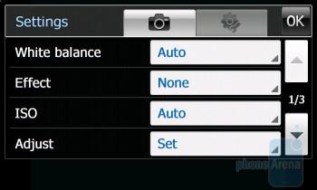 Camera interface - Samsung OmniaPRO B7610 Review