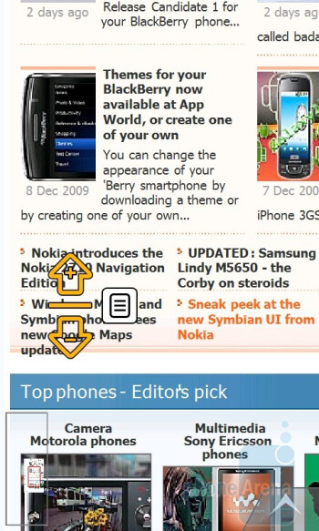 Surfing the web on the Samsung OmniaPRO B7610 - Samsung OmniaPRO B7610 Review