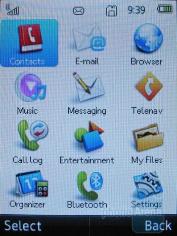 Main menu - T-Mobile Tap Review