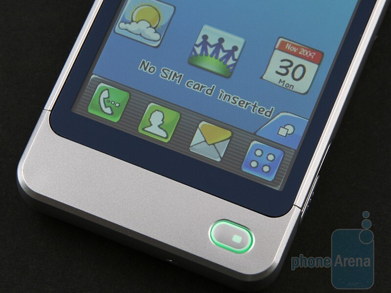 The button on the front side - LG Pop GD510 Review