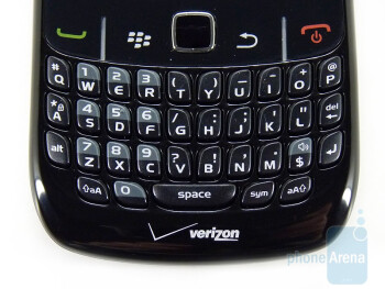The QWERTY keyboard - RIM BlackBerry Curve 8530 Review