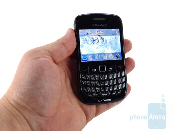 The BlackBerry Curve 8530 fits nicely in your hand - RIM BlackBerry Curve 8530 Review