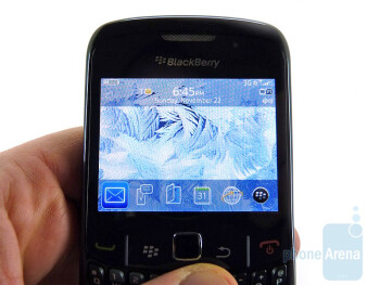 "The 2.4"" display - RIM BlackBerry Curve 8530 Review"