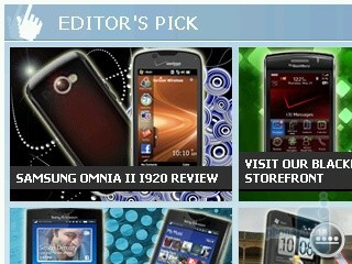 Browsing the web with Internet Explorer - HP iPAQ Glisten Review