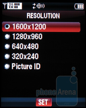 Camera interface - Casio G'zOne Rock, Motorola Barrage and Samsung Convoy: side by side