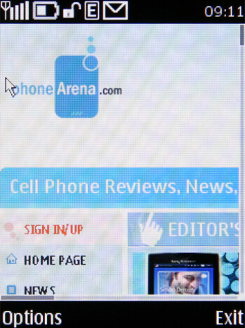 Standard browser - Nokia X3 Review