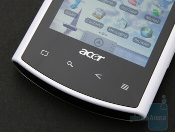 All buttons on the front side are touch-sensitive - Acer Liquid A1 Review