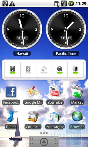 The home screen of the Acer Liquid A1 consists of three separate pages - Acer Liquid A1 Review