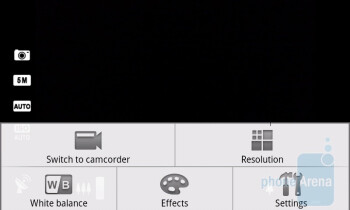 Camera interface of the Acer Liquid A1 - Acer Liquid A1 Review