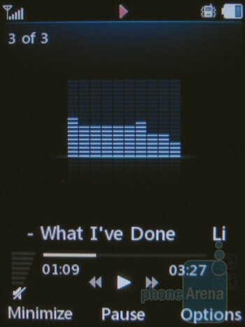 The music player interface - LG Shine II GD710 Review