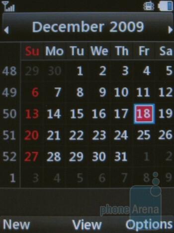 Calendar - LG Shine II GD710 Review