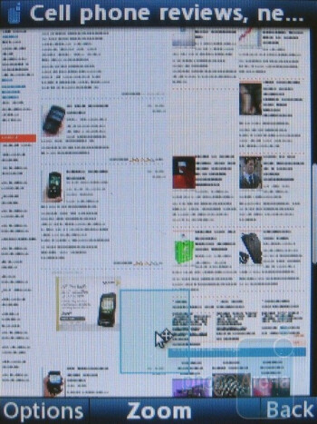 Opera Mini browser  - LG Shine II GD710 Review