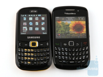 Next to RIM BlackBerry Curve 8520 - Samsung CorbyTXT B3210 feels pretty comfy in your hand - Samsung CorbyTXT B3210 Review