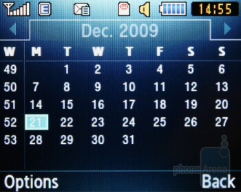 The calendar and the calculator - Samsung CorbyTXT B3210 Review