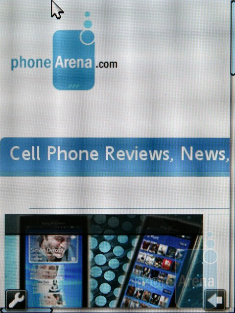 Browsing the web - Sony Ericsson Hazel and Elm Preview