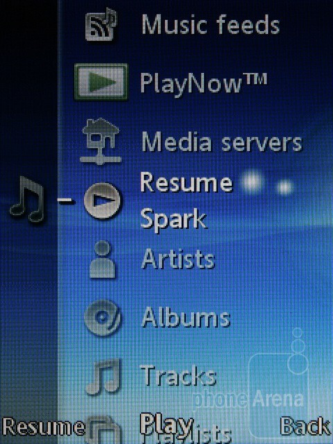 Media menu - Sony Ericsson Hazel and Elm Preview