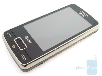 Navigating can be done through the touchscreenor the finger print reader - LG eXpo GW820 Review