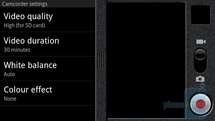 The camera interface of the Motorola MILESTONE - Motorola MILESTONE Review