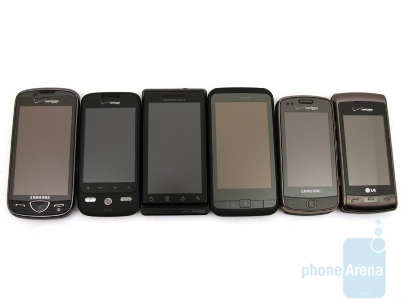 Verizon Cameraphone Comparison Q4 2009