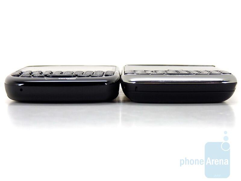 RIM BlackBerry Curve 8530 (bottom and left),RIM BlackBerry Bold 9700 (up and right) - RIM BlackBerry Bold 9700 and Curve 8530: side by side