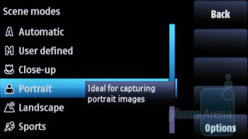 The interface of the 5-megapixel camera of the Nokia X6 - Nokia X6 Review
