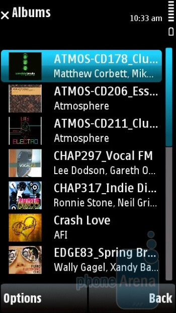 Audio player - Nokia X6 Review