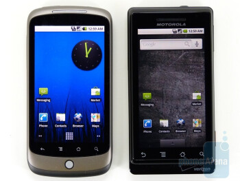Next to Motorola DROID - Google Nexus One Review