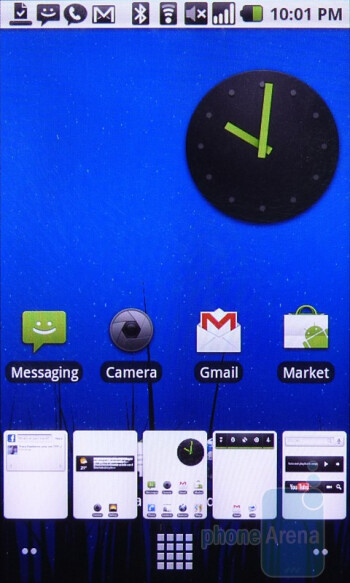The home screen and main menu of the HTC Nexus One - Google Nexus One Review