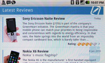 The browser of HTC Nexus One is very fast - Google Nexus One Review