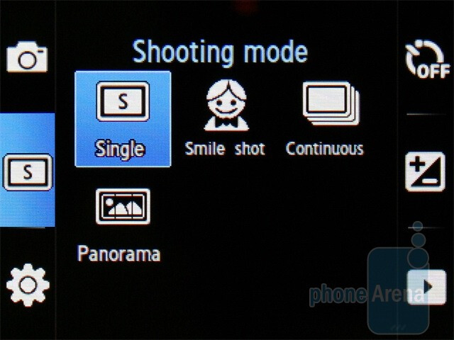 Camera inteface - Samsung Corby S3650 Review