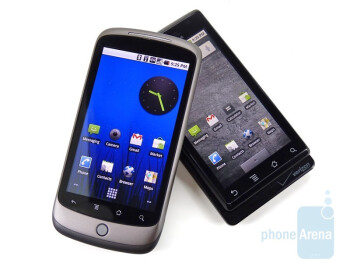 HTC Nexus One and Motorola DROID: side by side