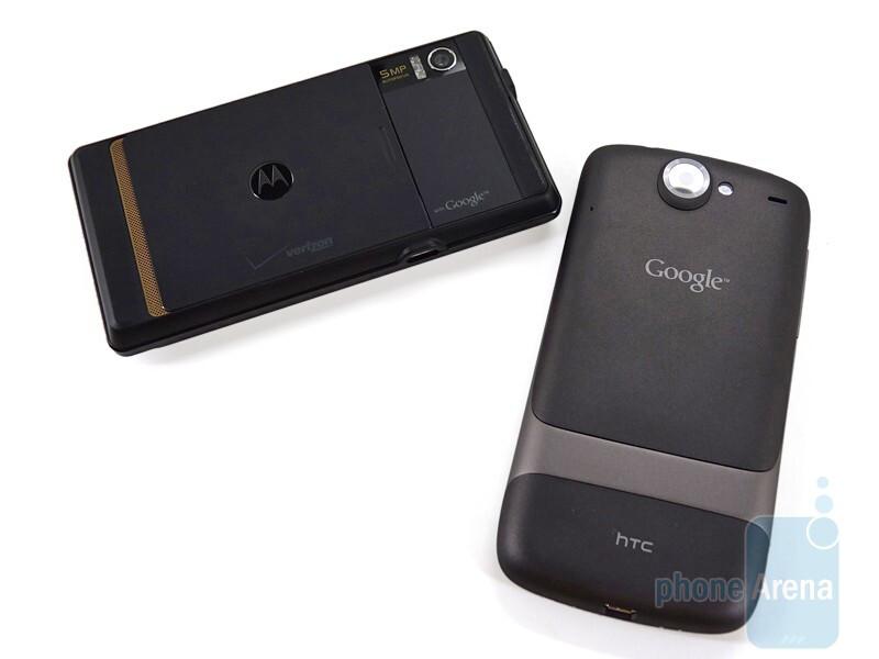 HTC Nexus One next to Motorola DROID - HTC Nexus One and Motorola DROID: side by side