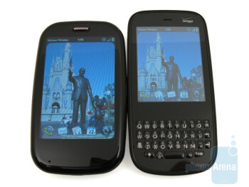 Palm Pre Plus (left) next to the Palm Pixi Plus (right) - Palm Pre Plus Review