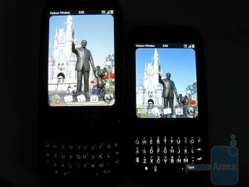 Palm Pre Plus (left) next to the Palm Pixi Plus (right) - Palm Pre Plus Review