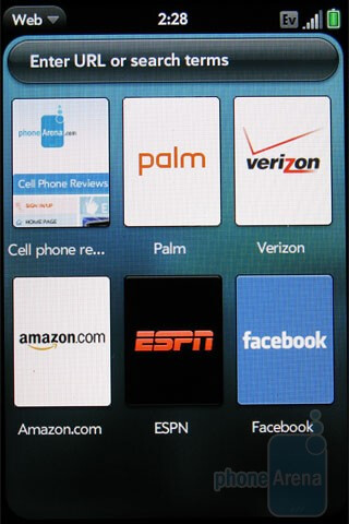 The WebKit-based browser of the Palm Pre Plus is fast - Palm Pre Plus Review