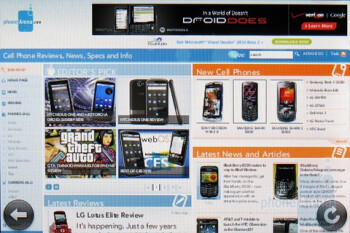 Web surfing in landscape mode - Palm Pre Plus Review