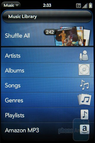 Music player - Palm Pre Plus Review