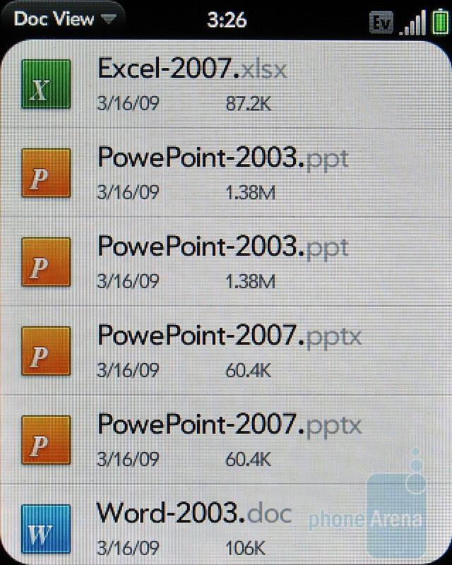 Doc viewer - Palm Pixi Plus Review