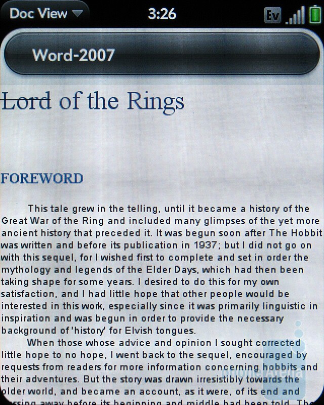 Word - Palm Pixi Plus Review
